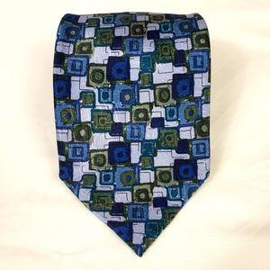 "J. Garcia Blue Silk L58"" W3 1/2"" Tie"